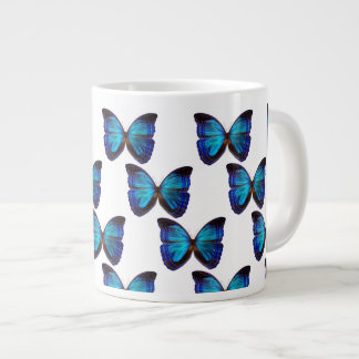 Butterfly Blues Large Coffee Mug