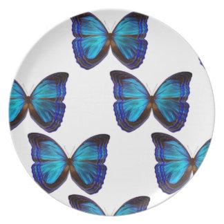 Butterfly Blues Melamine Plate
