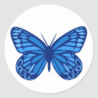 Butterfly Blues Classic Round Sticker