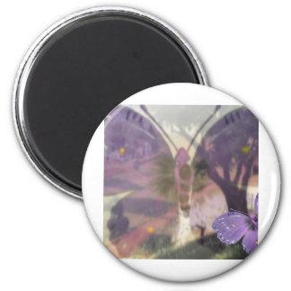 Butterfly Blur 2 Inch Round Magnet