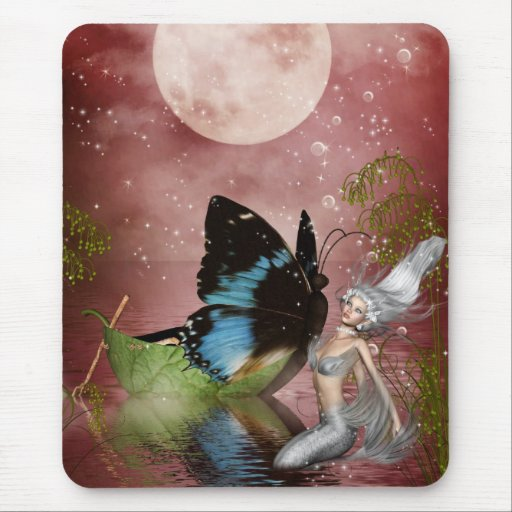 Butterfly Boat Mouse Pad