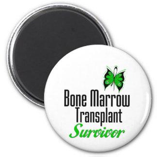 Butterfly - Bone Marrow Transplant Survivor 2 Inch Round Magnet
