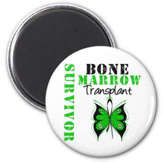 Butterfly Bone Marrow Transplant Survivor 2 Inch Round Magnet