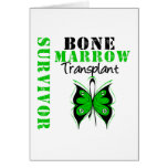 Butterfly Bone Marrow Transplant Survivor Greeting Card
