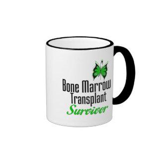 Butterfly - Bone Marrow Transplant Survivor Ringer Coffee Mug