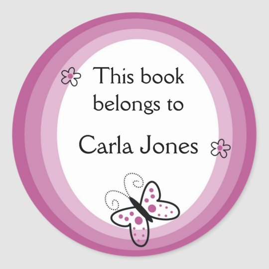 Butterfly Bookplates-This Book Belongs To Labels