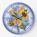 Butterfly Bouquet Floral Wall Clock