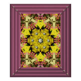 Butterfly Bouquet Reflections Poster