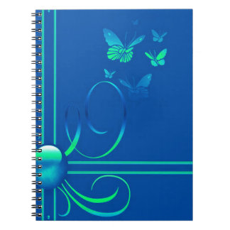 Butterfly Bows 3 Spiral Notebook
