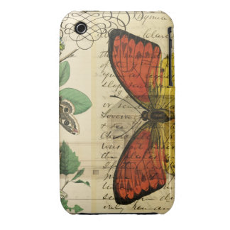 Butterfly Boyanical Mixed Media Art iPhone 3 Case-Mate Cases