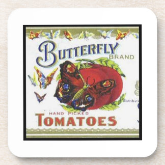 Butterfly Brand Tomatoes Beverage Coaster