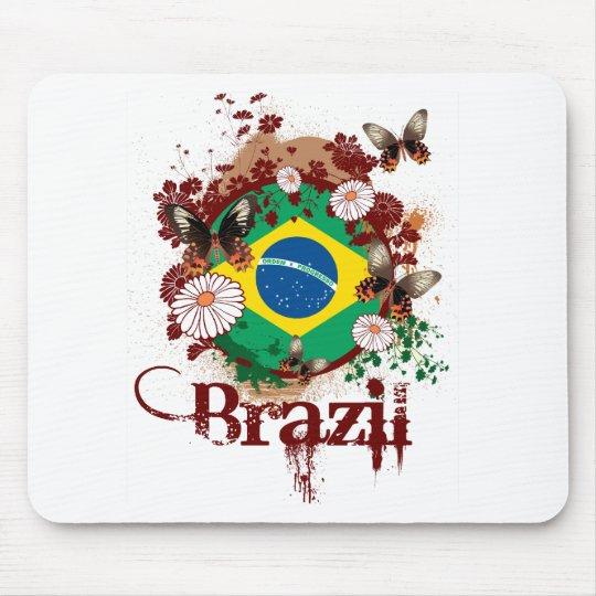 Butterfly Brazil Mouse Pad