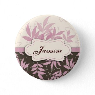 Butterfly Breeze Name Tag Button button