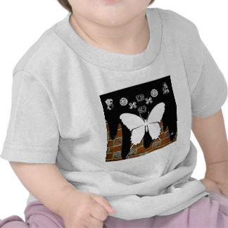 BUTTERFLY BRICK BACKGROUND PRODUCTS T-SHIRTS