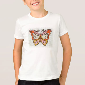Butterfly bright hand embroidery T-Shirt