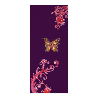 BUTTERFLY , bright red purple Card
