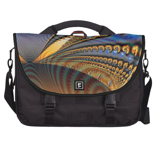 Butterfly Brilliance Fractal Wings Of Gold & Blue Computer Bag