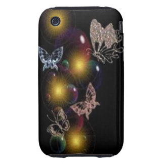 Butterfly bubbles iPhone 3 tough covers
