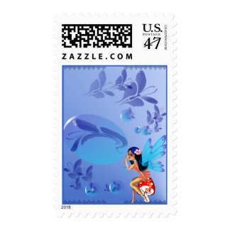 Butterfly Bubbles Postage