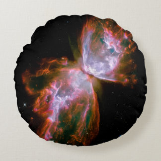 Butterfly  Bug Nebula Hubble Space NASA Astronomy Round Pillow