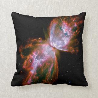 Butterfly  Bug Nebula Hubble Space NASA Astronomy Throw Pillow