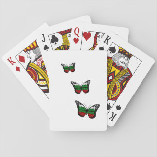Butterfly Bulgarian Flag Playing Cards