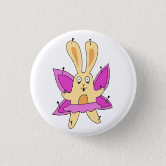 Butterfly Bunny Badge Pinback Button