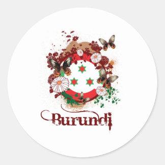 Butterfly Burundi Classic Round Sticker