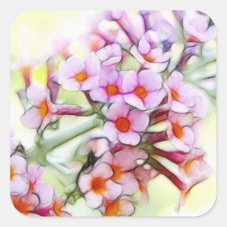 Butterfly Bush - Delicate and Dreamy Square Sticker