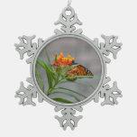 butterfly bush monarch behind . ornaments