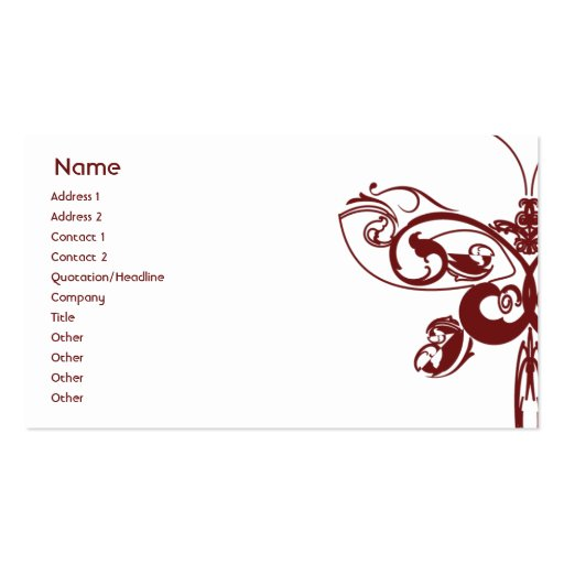 Butterfly business double sided standard business cards for Butterfly business cards