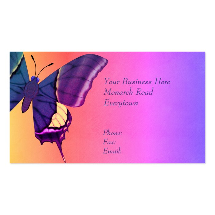 butterfly business card zazzle