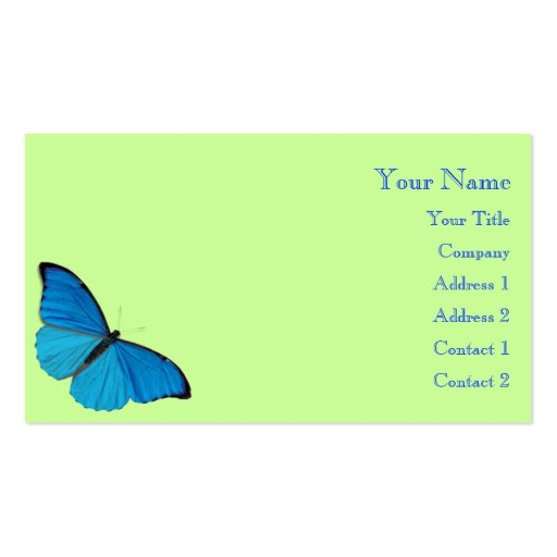 Butterfly double sided standard business cards pack of for Butterfly business cards
