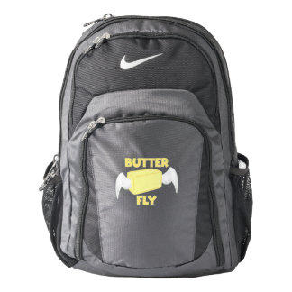 Butterfly Butter Fly Funny Food Puns Food Dad Joke Nike Backpack