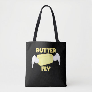 Butterfly Butter Fly Funny Food Puns Food Dad Joke Tote Bag