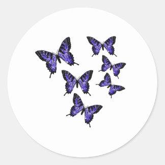 Butterfly Butterflies Classic Round Sticker