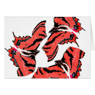Butterfly Butterflies Colorful Swirly Abstract Art Greeting Card
