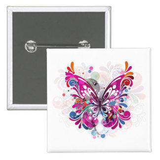 Butterfly ~ Butterflies Customize Template 2 Inch Square Button