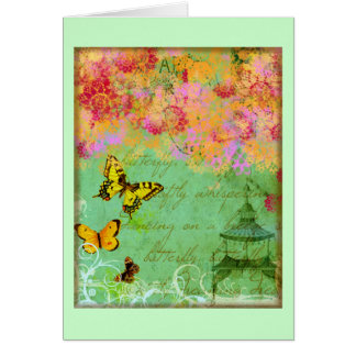 Butterfly, Butterfly Collage Art Cards