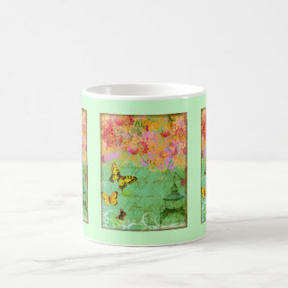Butterfly, Butterfly Collage Art Coffee Cup