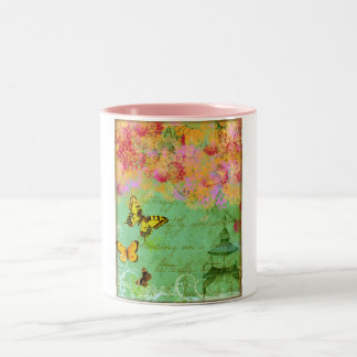 Butterfly, Butterfly Collage Art  Coffee Mug