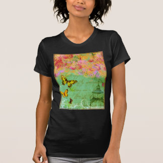 Butterfly,butterfly Collage Art Dark Color T-shirt