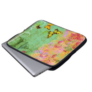 Butterfly, Butterfly Collage Art Laptop Sleeve
