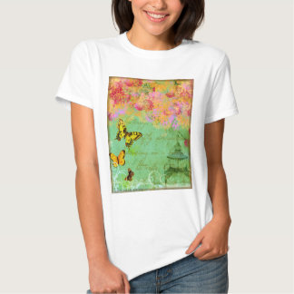 Butterfly, Butterfly Collage Art T-shirt