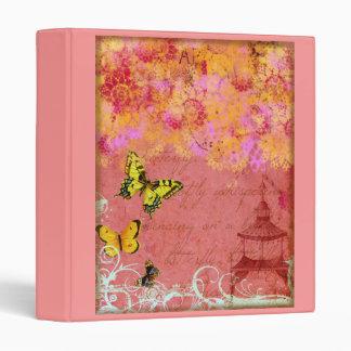 Butterfly, Butterfly Pink Binder Notebook