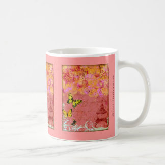Butterfly, Butterfly Pink Collage Art Coffee Mug