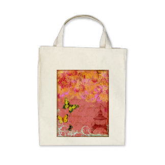 Butterfly, Butterfly Pink Collage Art Tote Bag