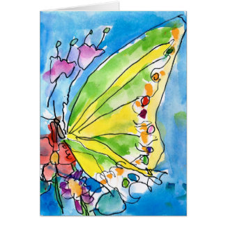 Butterfly by Jeffrey Shutt, Age 6 Stationery Note Card