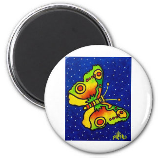 Butterfly by Piliero 2 Inch Round Magnet