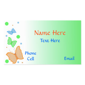 Butterfly Calling Card Double-Sided Standard Business Cards (Pack Of 100)
